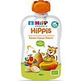Пюре HiPP HiPPis банан, груша, манго, с 6 мес, 6 шт