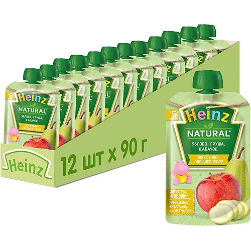 Пюре Heinz яблоко, груша, кабачок, с 5 мес, 12 штук от Heinz