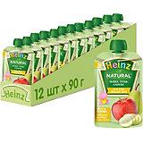 Пюре Heinz яблоко, груша, кабачок, с 5 мес, 12 штук
