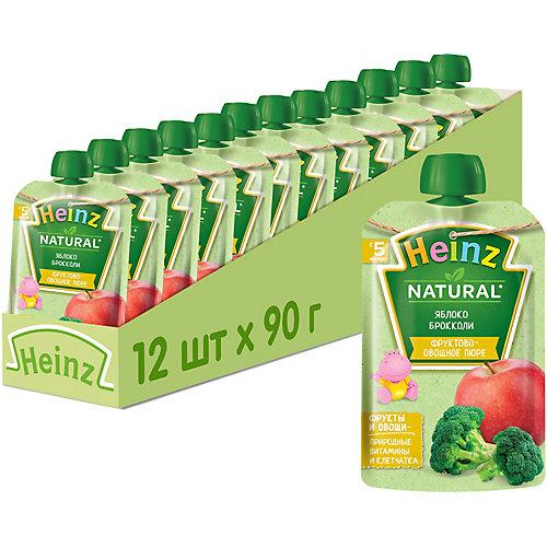 Пюре Heinz яблоко, брокколи, с 5 мес, 12 штук от Heinz