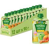 Пюре Heinz яблоко, тыква, морковь, манго, с 6 мес, 12 штук