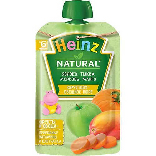 Пюре Heinz яблоко, тыква, морковь, манго, с 6 мес, 12 штук от Heinz