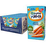 Нектар ФрутоНяНя морковь с мякотью, с 4 мес, 18 шт по 200 г