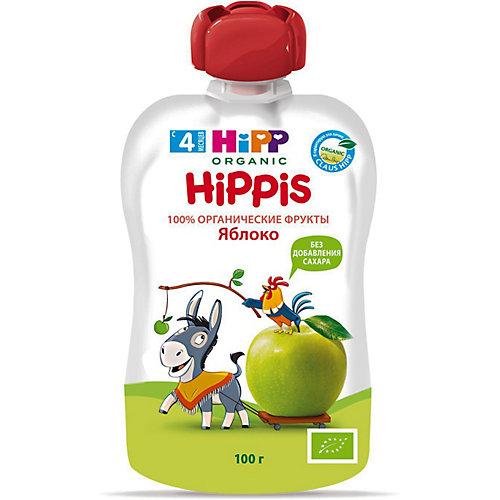Пюре HiPP HiPPis яблоко, с 4 мес, 6 шт