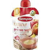 Пюре Semper яблочно-персиковое с кашей, с 6 мес, 12 шт