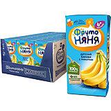 Нектар ФрутоНяНя бананы с мякотью, с 6 мес, 18 шт по 200 г