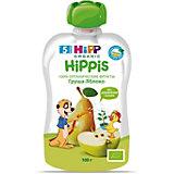 Пюре HiPP HiPPis яблоко, груша, с 5 мес, 6 шт
