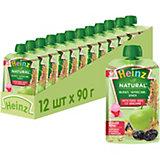 Пюре Heinz яблоко, чернослив и злаки, с 6 мес, 12 штук