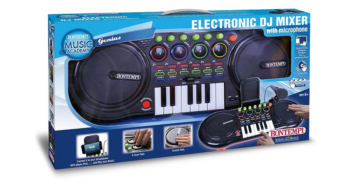 DJ Mixer mit Mikrofon schwarz