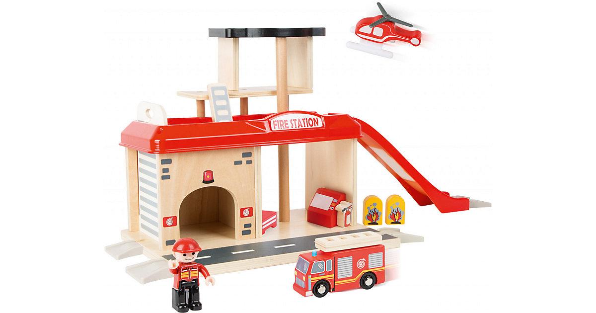 Feuerwehrwache mit Zubehör rot