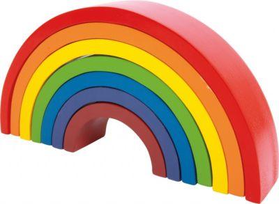 Holzbausteine Großer Regenbogen, Small Foot