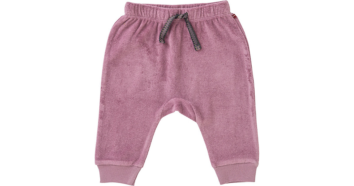 Baby Stoffhose , Organic Cotton - Frottee rosa Gr. 74/80 Mädchen Baby