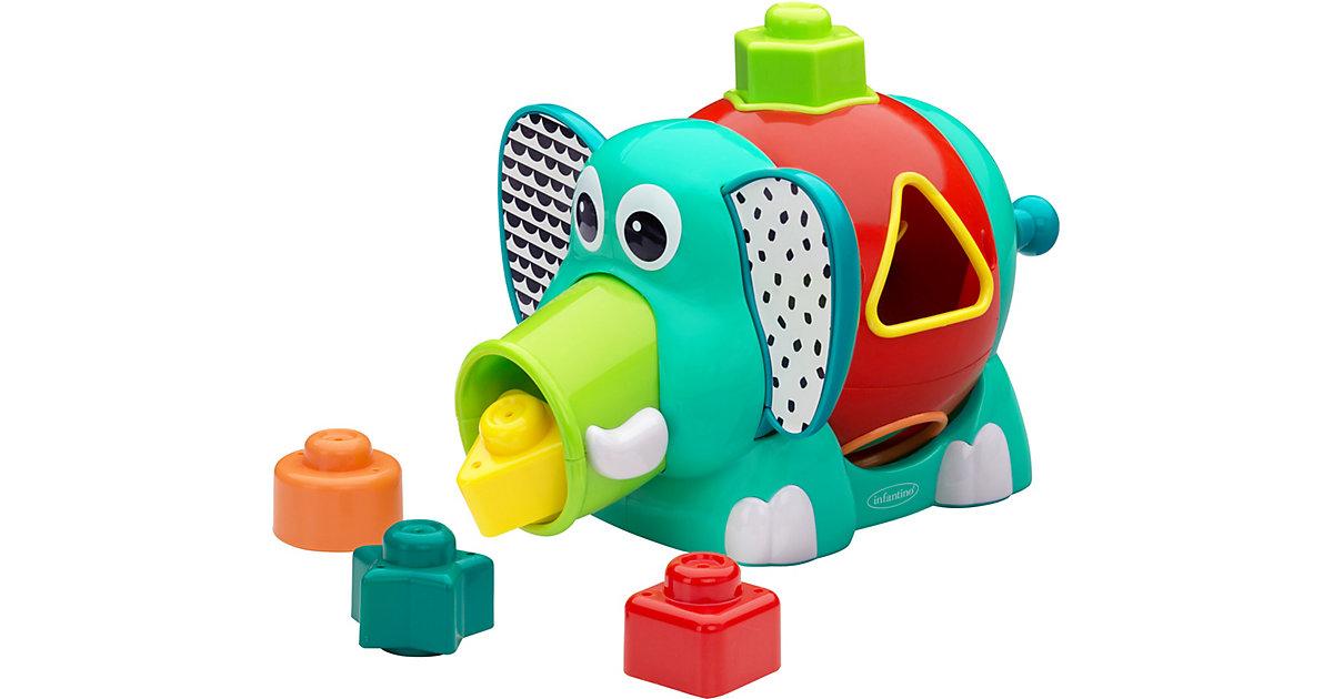 Steckspiel-Elefant mehrfarbig