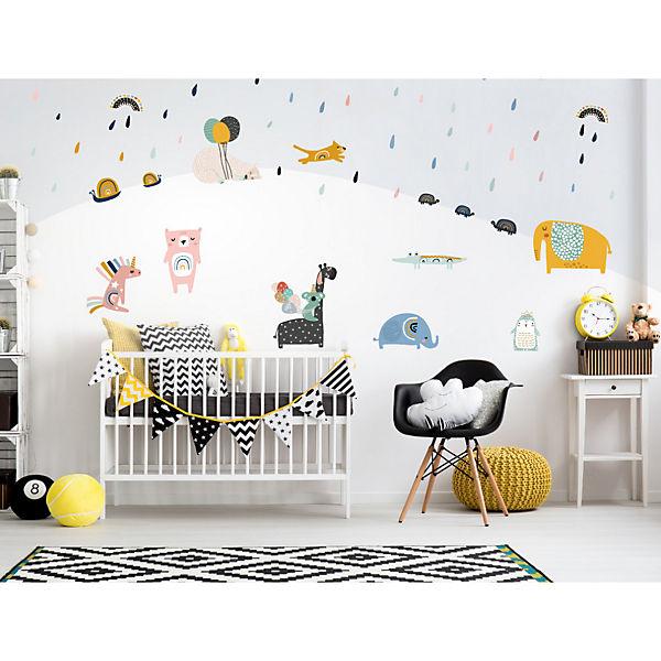 Wandtattoo Set Pastell Tiere Mit Luftballons Dekodino Mytoys