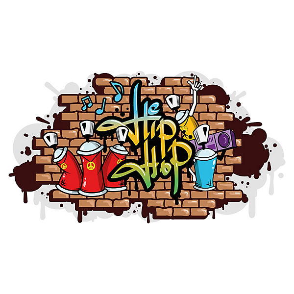 Wandtattoo Graffiti Hip Hop Wandausbruch Wandtattoos Dekodino Mytoys