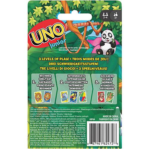 Игра карточная Games UNO Джуниор (обновленная) GKF04 от Mattel