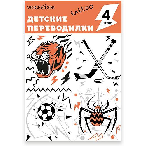 """Татуировка-переводилка """"Паук, Тигр, Хоккей и Футбол"""" от VoiceBook"""
