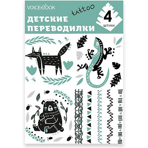 """Татуировка-переводилка """"Лиса и Ящерица"""" от VoiceBook"""