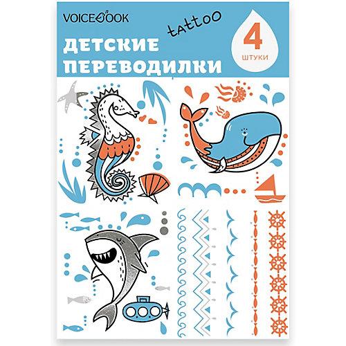"""Татуировка-переводилка """"Акула и Кит"""" от VoiceBook"""