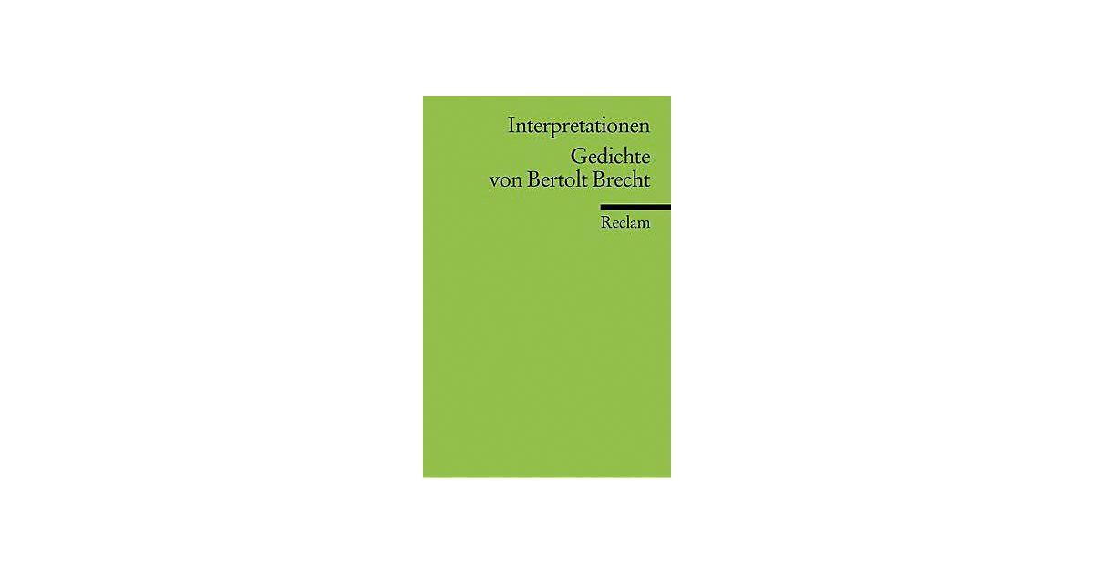 Buch - Gedichte von Bertolt Brecht, Interpretationen