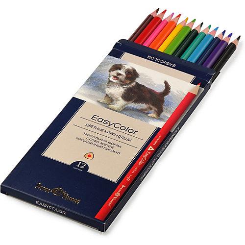 Цветные карандаши Bruno Visconti EasuColor, 12 цветов от Bruno Visconti