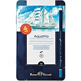 Акварельные цветные карандаши Bruno Visconti AquaPro, 12 цветов