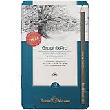 Набор чёрнографитных карандашей Bruno Visconti GraphixPro, 12 шт