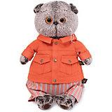 Мягкая игрушка Budi Basa Кот Басик в оранжевой куртке и штанах, 19 см