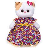 Мягкая игрушка Budi Basa Кошечка Ли-Ли в платье с цветочным принтом, 24 см