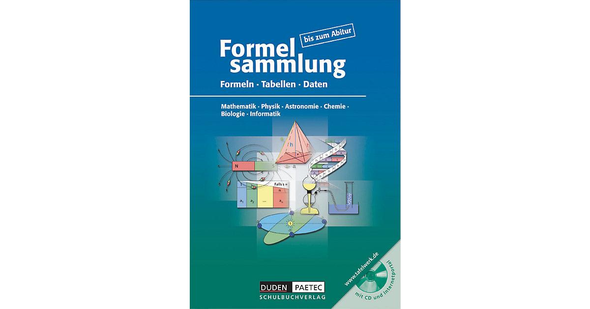 Formelsammlung bis zum Abitur, m. CD-ROM