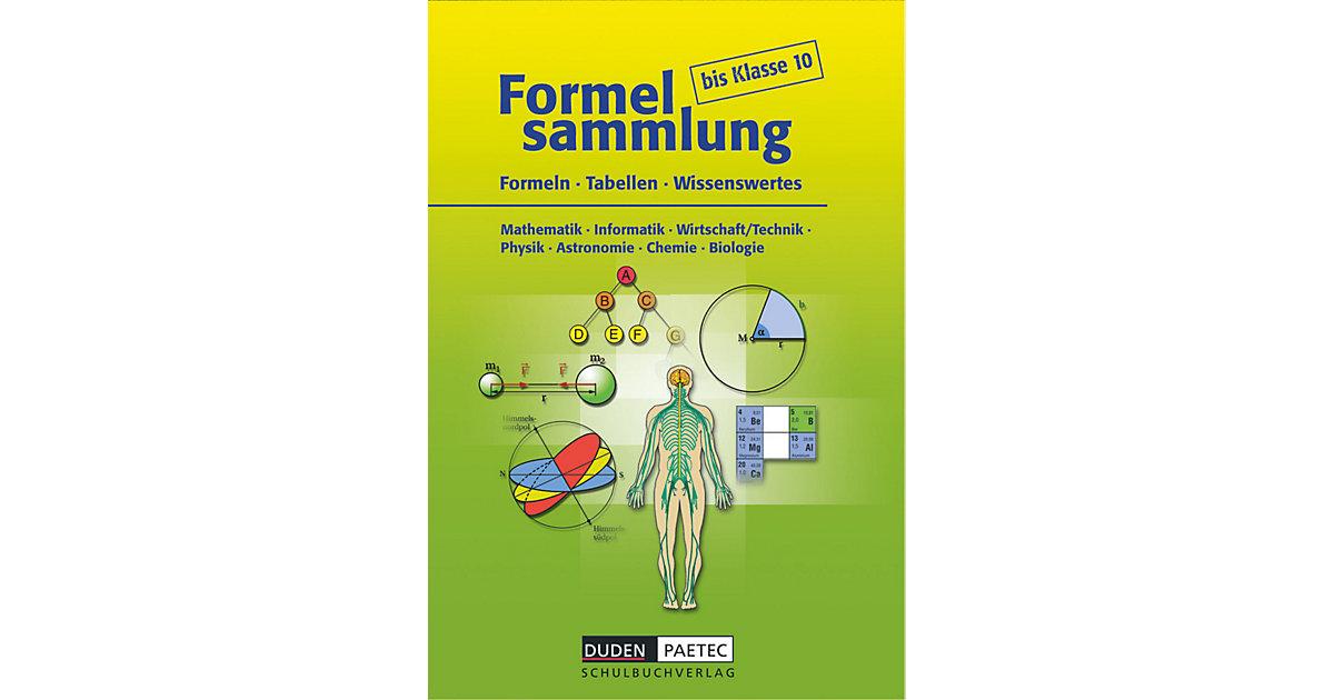 Formelsammlung bis Klasse 10