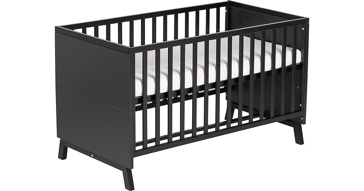 Kombi-Kinderbett Miami Black, 70x140 cm schwarz