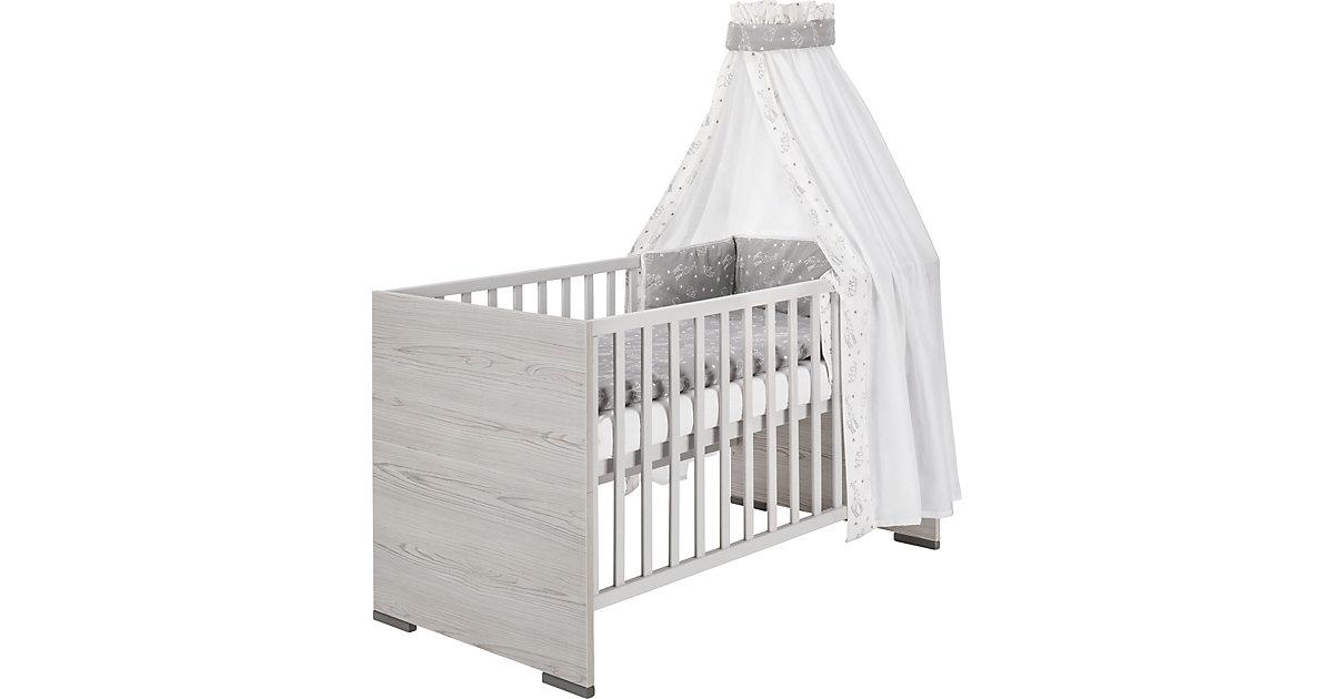 Kombi-Kinderbett Pixie Grey, 70x140 cm grau
