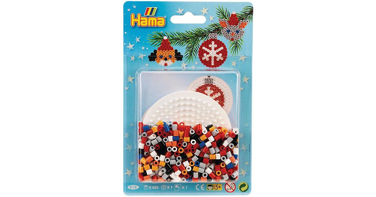 HAMA 4118 Blister Weihnachten Kreis, 450 midi-Perlen & Zubehör