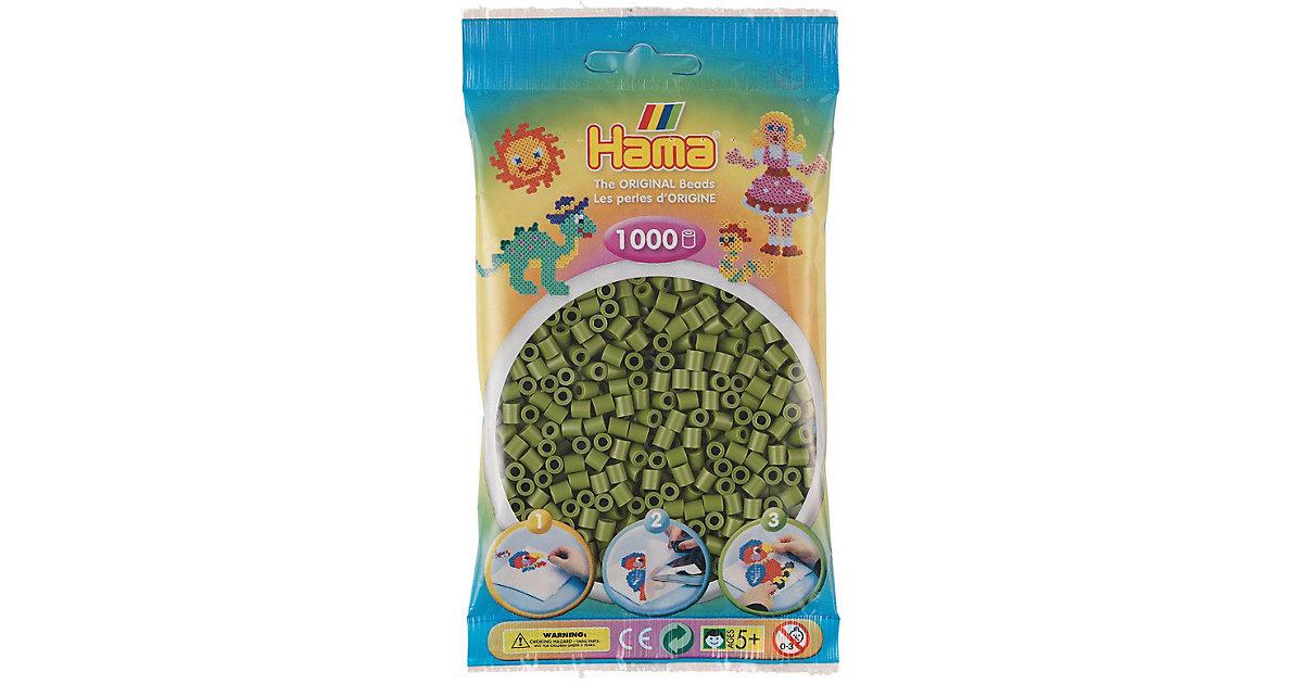 HAMA 207-84 Beutel midi-Perlen, 1.000 Stück, Helle Olive