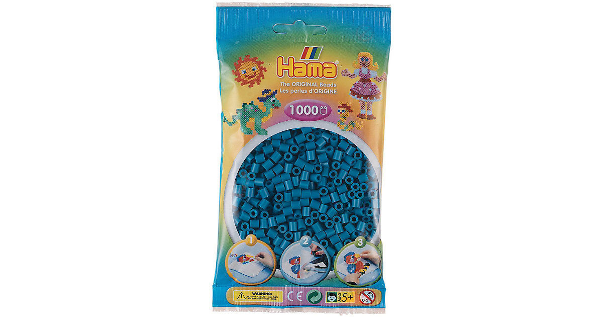 HAMA 207-83 Beutel midi-Perlen, 1.000 Stück, Petrol