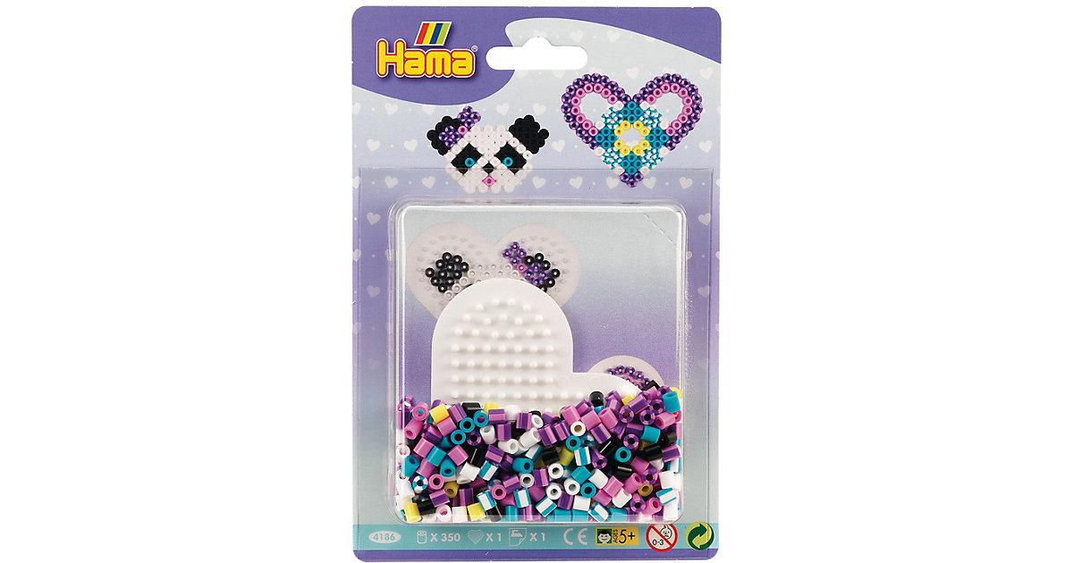 HAMA 4186 Blister Streifenperlen Herz, 350 midi-Perlen & Zubehör