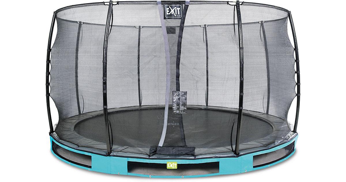 EXIT Elegant Inground-Trampolin ø366cm mit Economy Sicherheitsnetz - blau | Kinderzimmer > Spielzeuge > Trampoline | EXIT