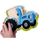 Деревянный пазл BochArt Синий трактор
