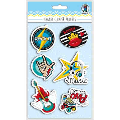 "Magnetic Paper Patches ""Rockstar"" Mot:04"
