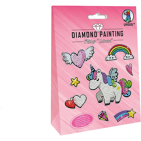 "Diamond Painting Sticker ""Unicorn"" Mot:01"