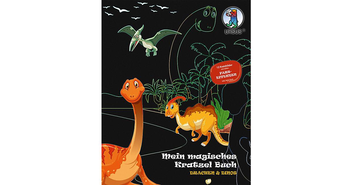 """Mein Magisches Kratzel Buch """"Drachen & Dinos"""" mehrfarbig"""