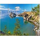 Картина по номерам на дереве Molly Озеро Байкал