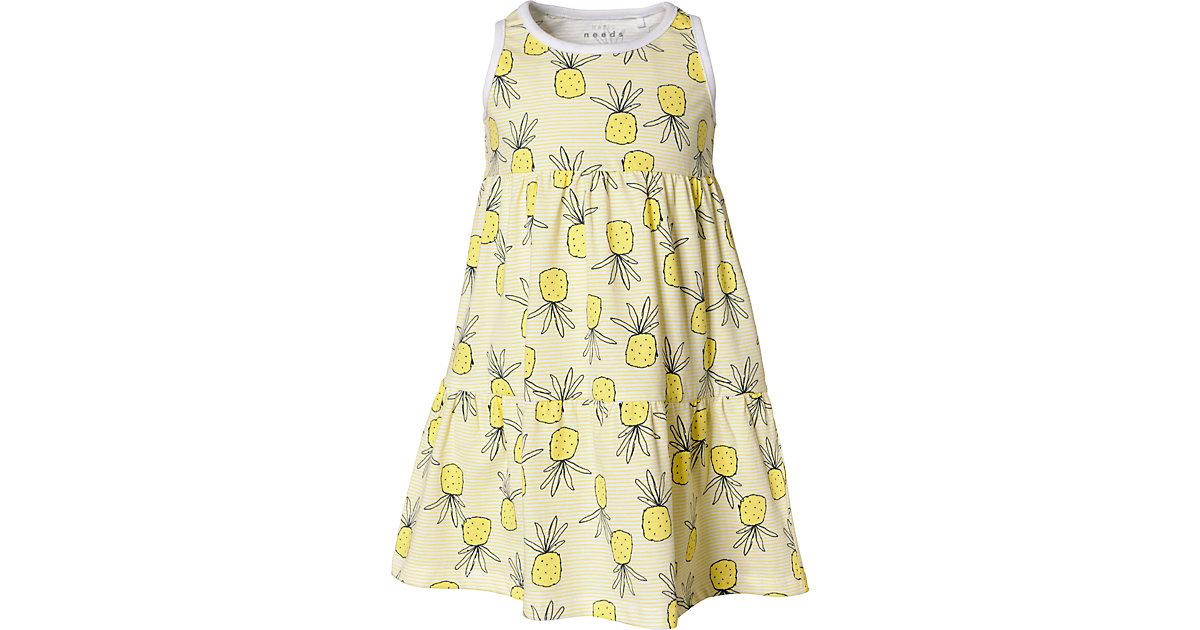Kinder Jerseykleid NMFVIGGA, Organic Cotton gelb Gr. 92 Mädchen Kleinkinder