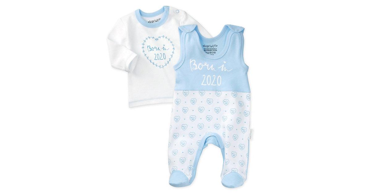 2tlg Set Strampler + Shirt Born in 2021 Strampler weiß-kombi Gr. 62 Jungen Kinder