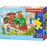 Пазл Castorland Зеленый локомотив, 30 деталей