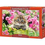 Пазл Castorland Котёнок в саду, 500 деталей