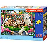 Пазл Castorland Домашние животные в парке, 180 деталей