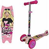 Трёхколёсный самокат 1Toy Barbie