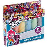 """Мелки цветные Multiart """"Моя маленькая пони"""", 6 цветов"""